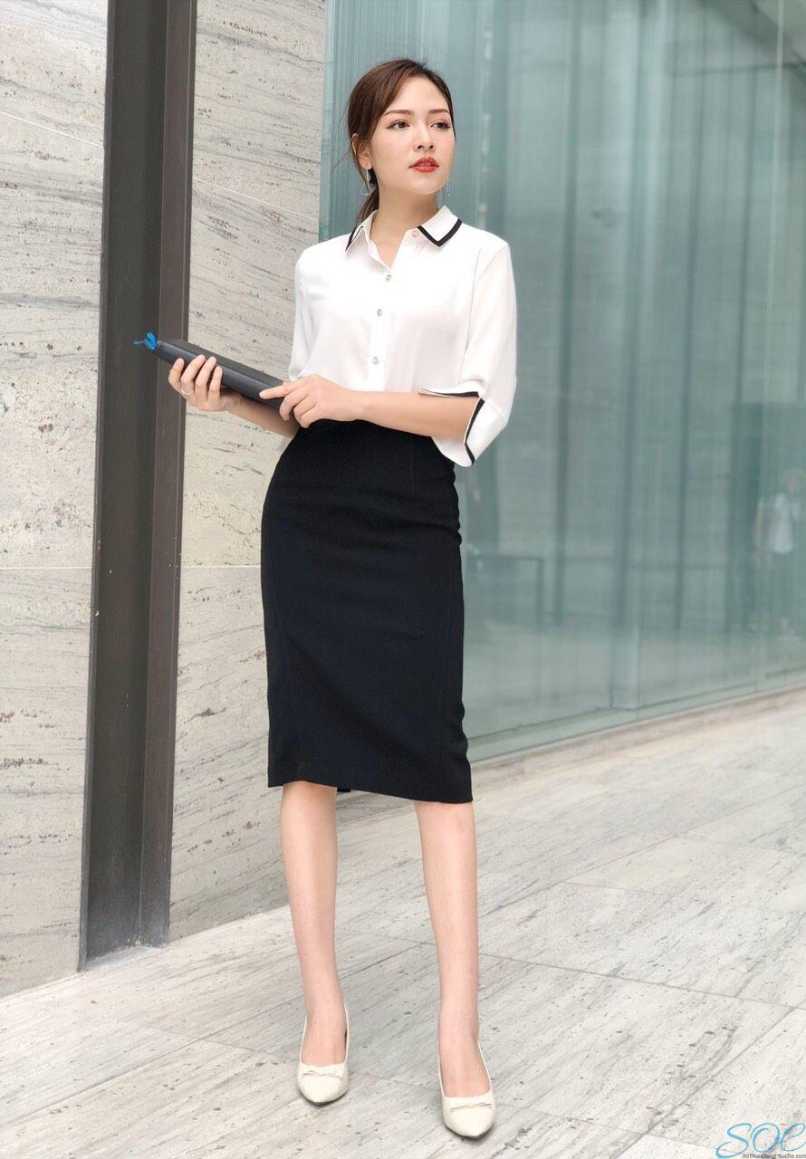 Những kiểu may sơ mi đồng phục văn phòng dành cho nữ
