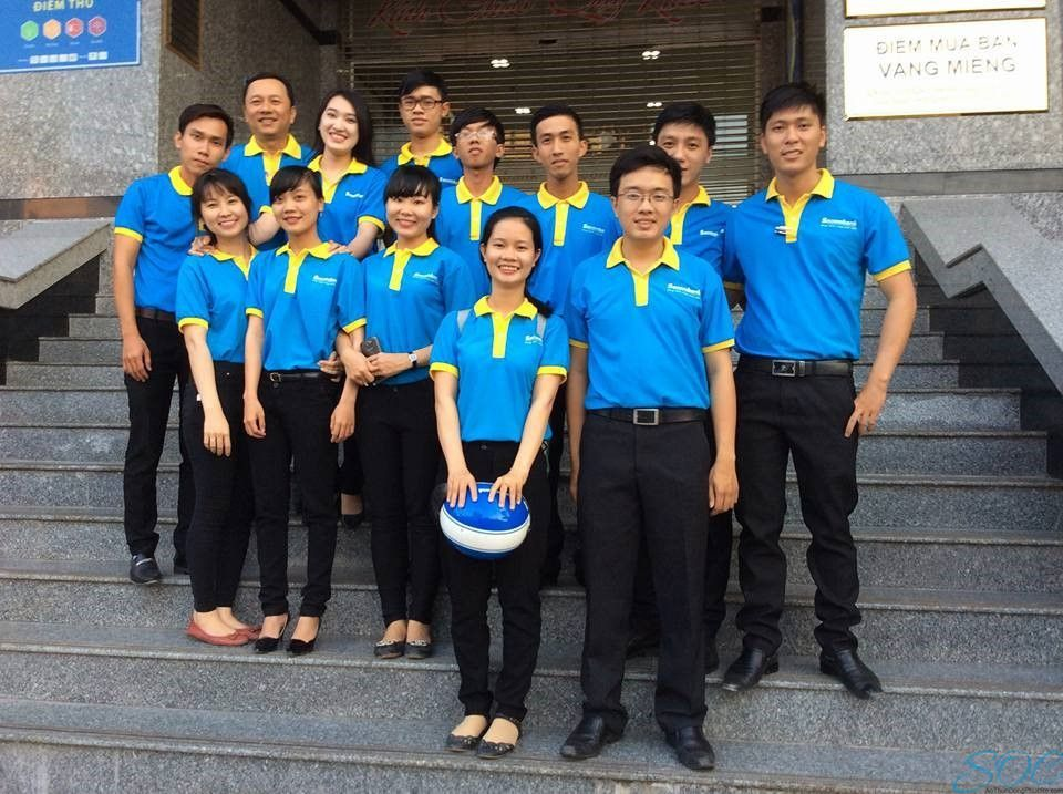May áo thun đồng phục cổ trụ giá rẻ tại huyện Hóc Môn