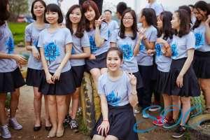 May áo thun đồng phục cổ tròn giá rẻ tại quận Bình Tân