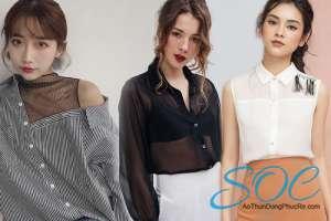 Những mẫu áo sơ mi cách điệu dành cho nữ