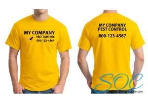 Áo thun đồng phục công ty cổ tròn tay ngắn màu vàng